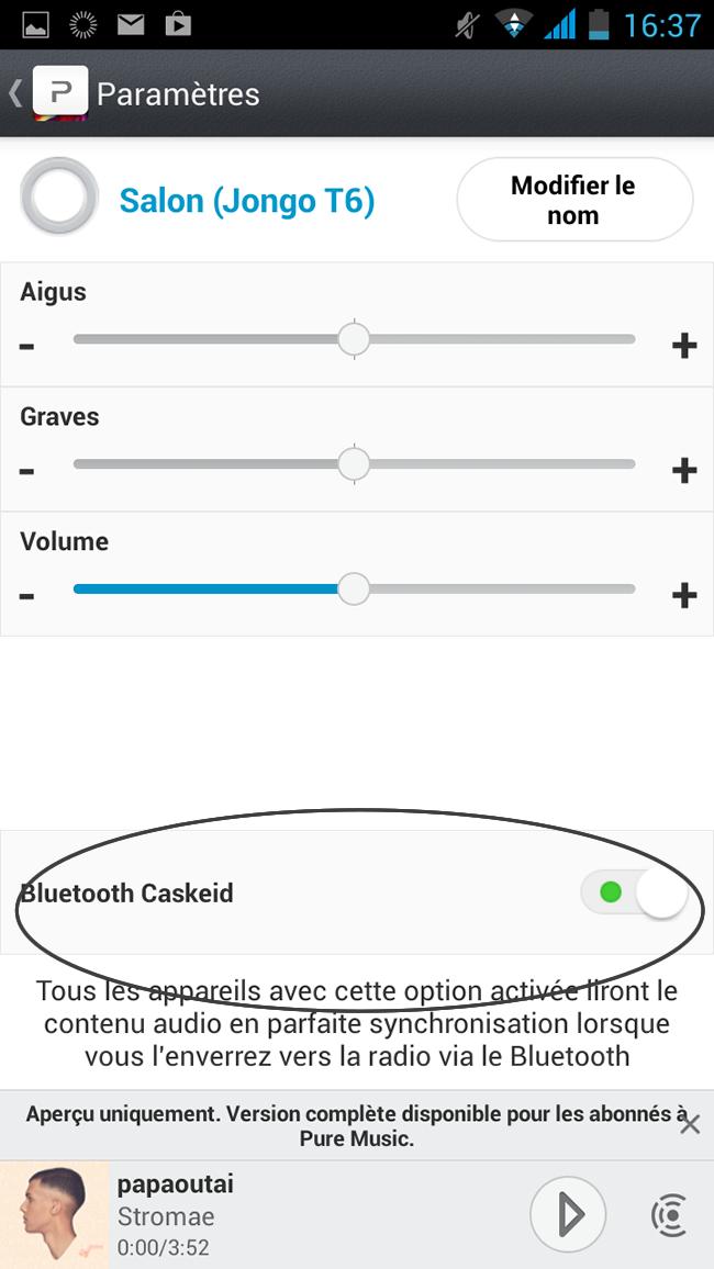 Multiroom audio Pure Jongo Bluetooth Caskeid
