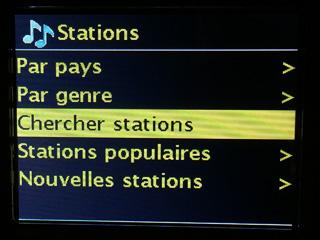 Rechercher une station radio sur Internet