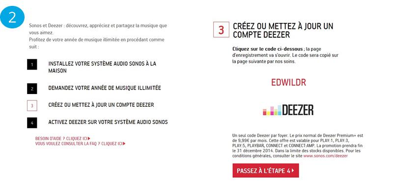 Obtenir mon code promotionnel Deezer Premium+