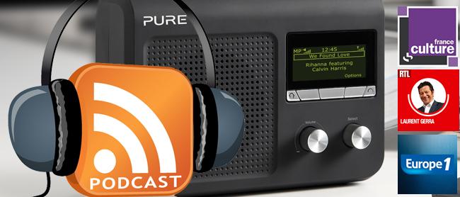 Ecouter podcasts sans ordinateur poste radio wifi