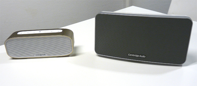 Comparatif de taille entre l'enceinte Cambridge Audio G2 et V2