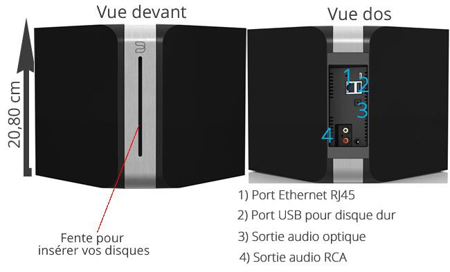 Bluesound Vault : lecteur et rippeur de CD