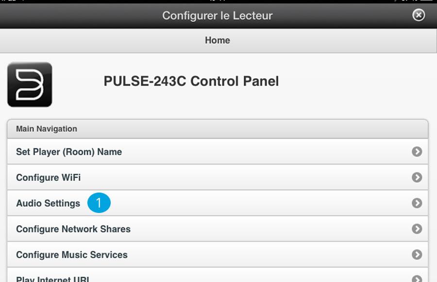 Configuration lecteur réseau audio Pulse