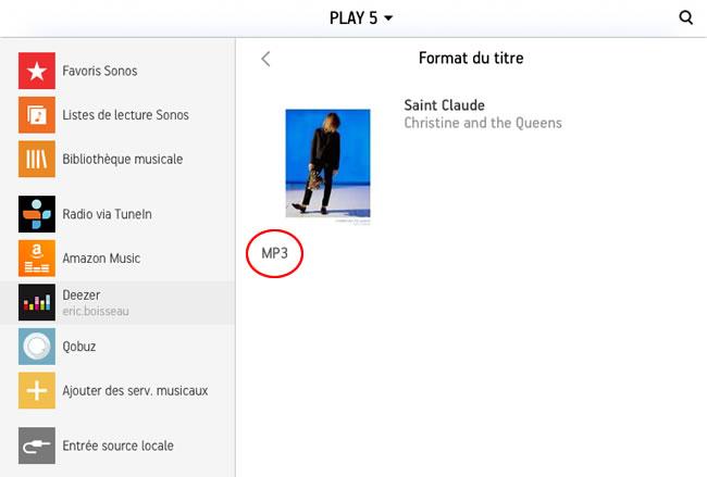 Deezer Premium format MP3