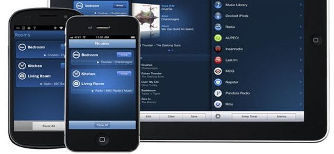 Utiliser votre téléphone ou votre tablette tactile Apple / Android pour sélectionner et écouter votre musique sur des enceintes