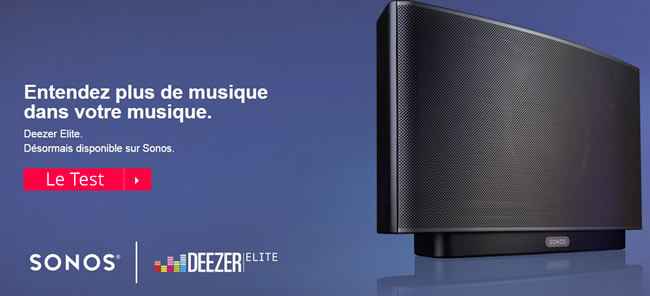Deezer avec un son en qualité CD sur tous les produits Sonos : enceintes sans fil et lecteurs audio réseau