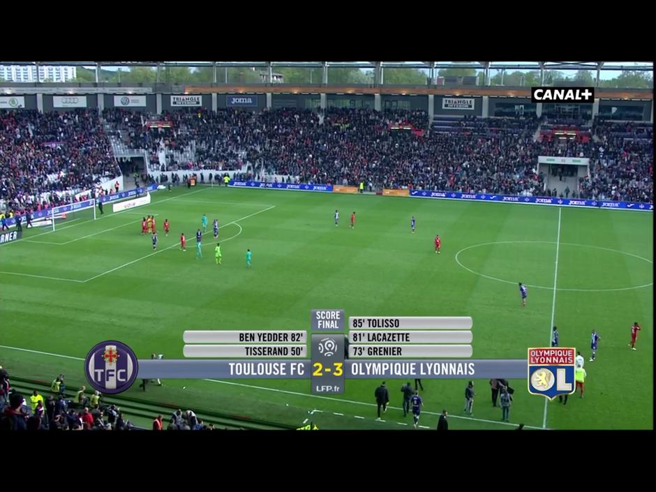 Une image de résolution moyenne pour la télévision en direct sur l'iPad avec l'application MyCanal de Canal + / CanalSat
