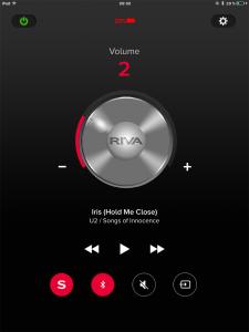 L'application Riva S sur iPad