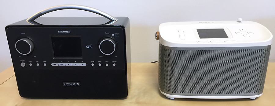 Comparatif entre le poste de radio internet Roberts Stream 93i et l'enceinte R-line R100