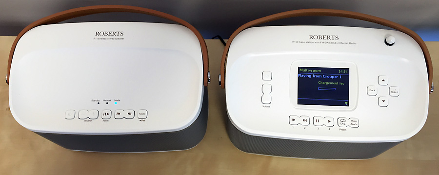 Un poste de radio Internet et une enceinte sans fil WIFi ou réseau