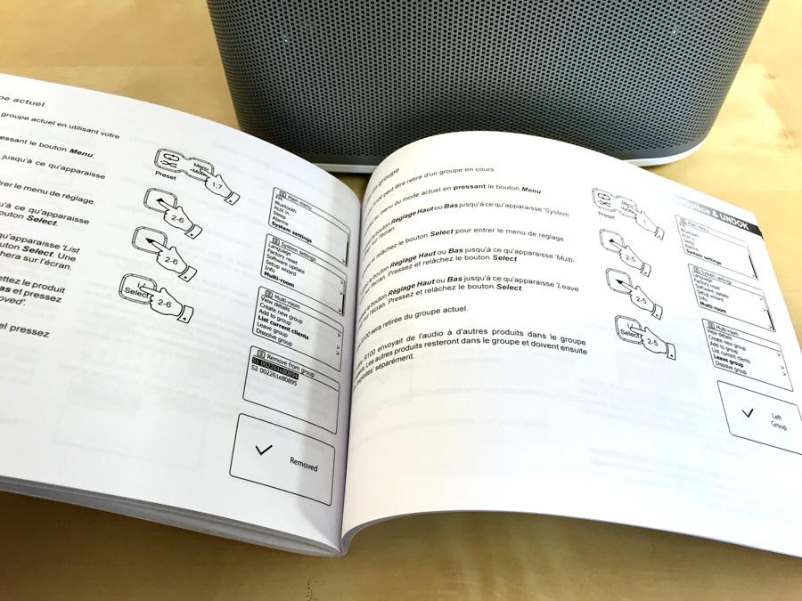 Roberts R-line R100 poste de radio WiFi livrée avec son mode d'emploi en français au format papier
