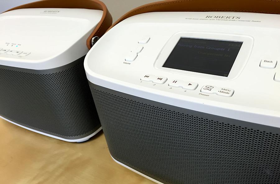 Poste de radio Internet Roberts R-Line R100 et l'enceinte sans fil WiFi R1