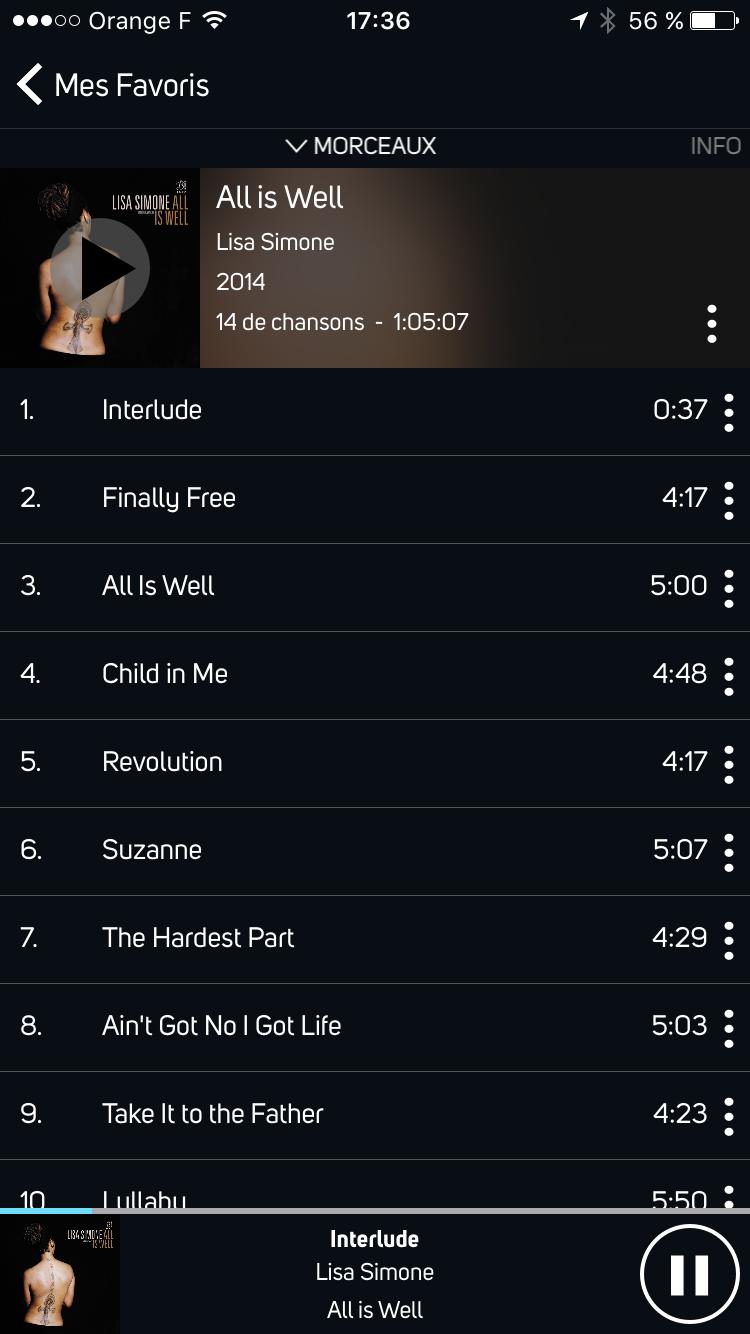 Ecoute de fichiers audio en qualité HD sur la barre de son