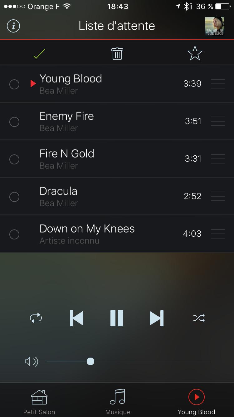 Gestion et modification de la playlist