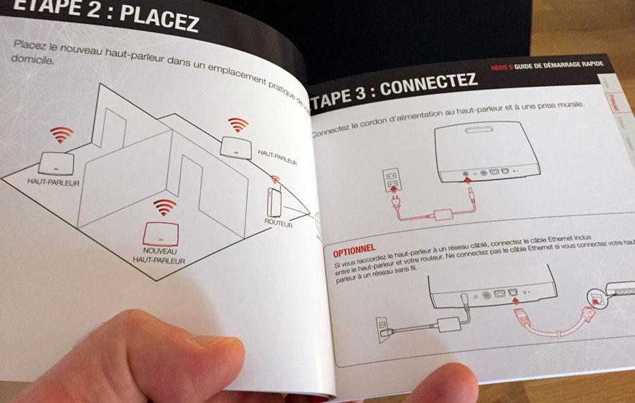 Mode d'emploi et guide pour l'installation et la configuration de l'enceinte WiFi Denon HEOS 5 sur le réseau de la maison