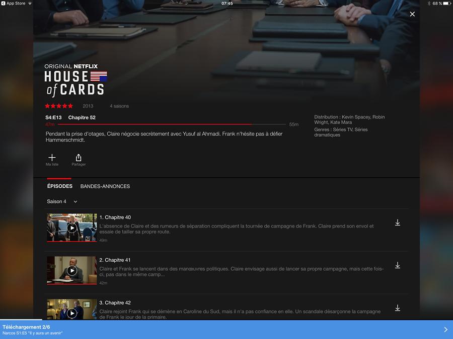 Les séries Netflix à télécharger pour une lecture hors connexion