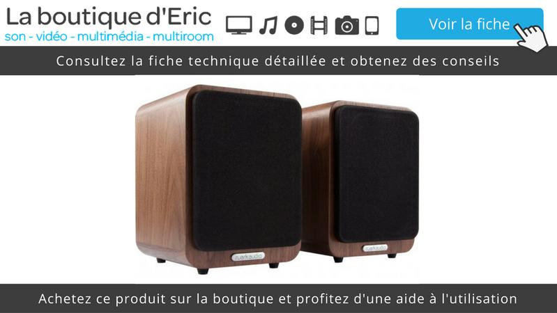 Découvrez sur La boutique d'Eric les enceintes compactes HiFi de bibliothèque Ruark Audio MR1