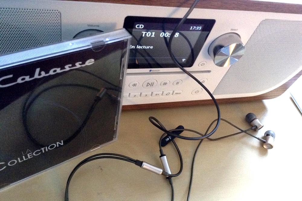 Test sur le système HiFi Pure Evoke C-F6, écoute d'une compilation Cabasse