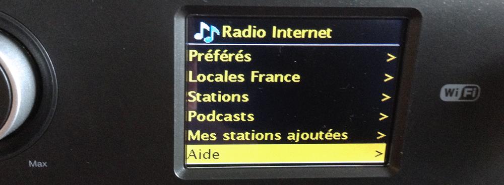 Obtenir le code d'accès de votre poste radio vous permettant de vous inscrire sur WiFi Radio Frontier