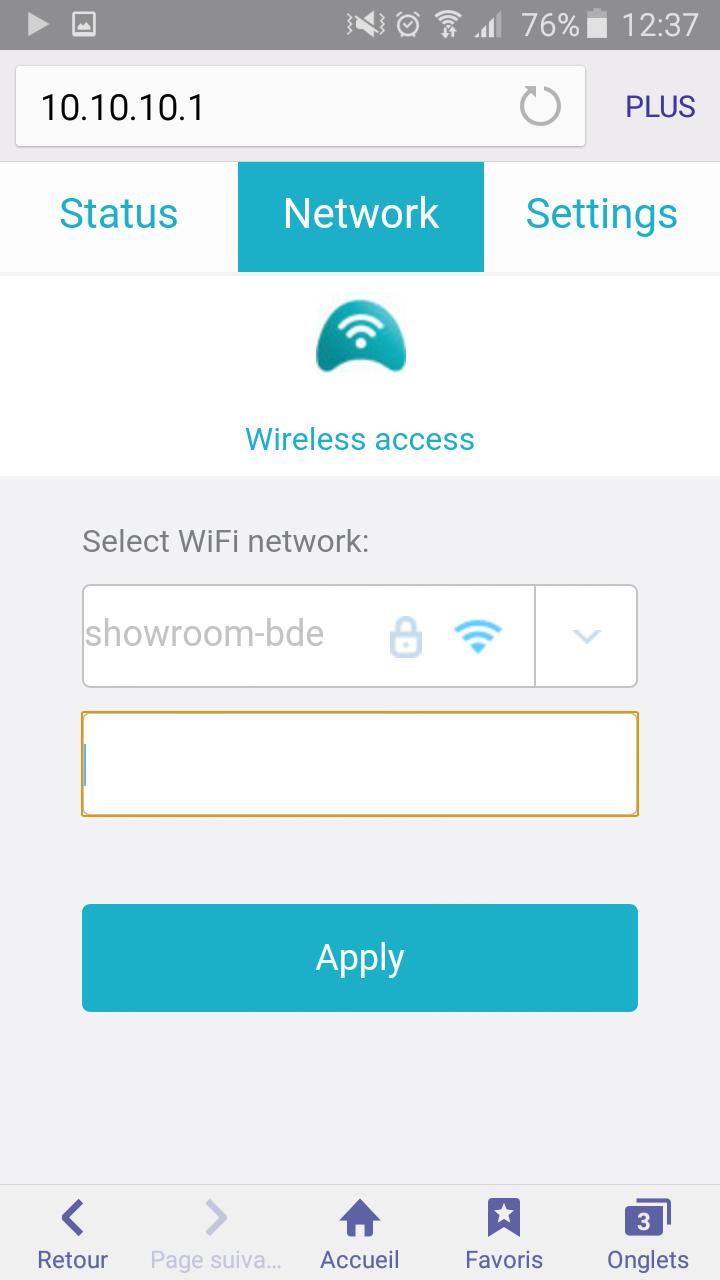 Connectez-vous à votre réseau WiFi