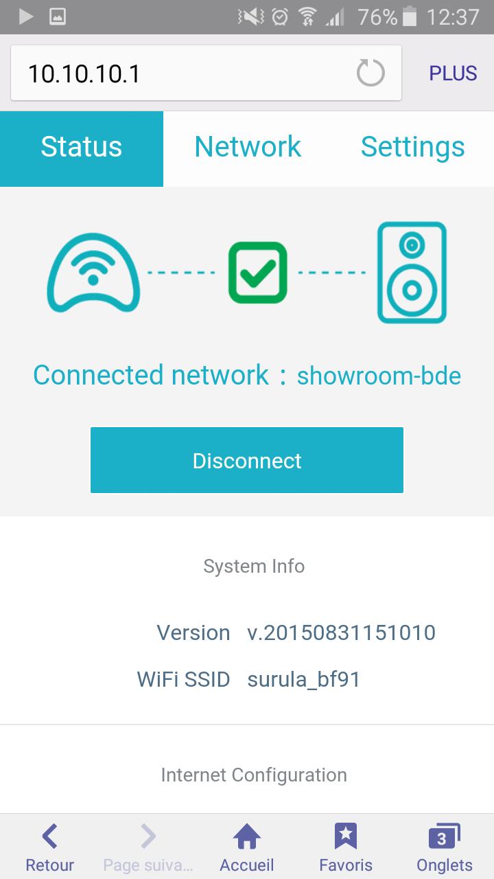 Vérifier l'état de connexion de votre Surula OKTO