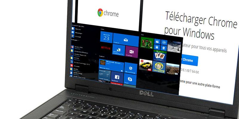 Utiliser Chrome sous Windows 10 et afficher les boites de dialogue pour la confirmation et le paramétrage des options