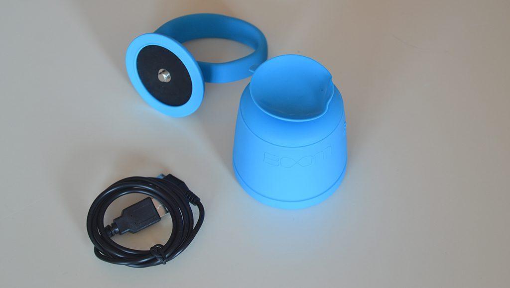 Unboxing/Découverte de l'enceinte Bluetooth étanche Polk Boom Swimmer vue sur la ventouse