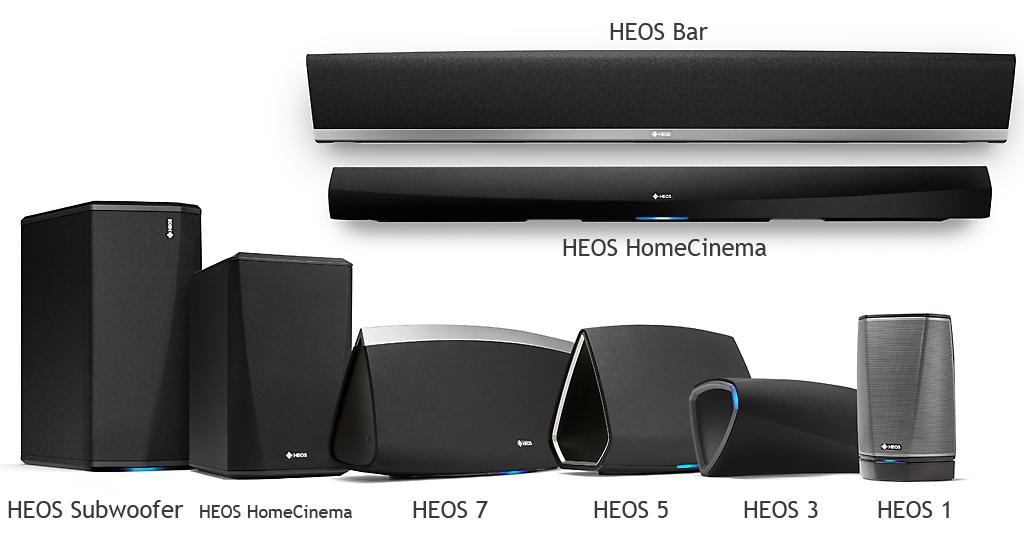 Toutes les enceintes sans fil WiFi, Bluetooth et multiroom de Denon HEOS