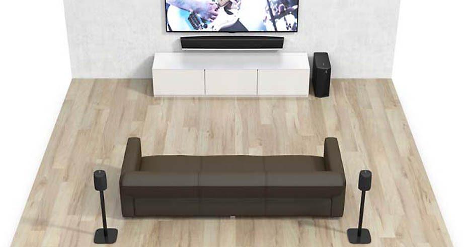 Configuration home cinéma 5.1 sans fil avec tous les haut-parleurs