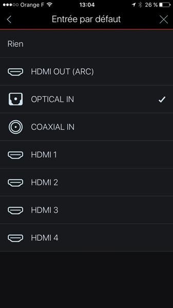 Gestion des entrées audio-video sur la barre de son HEOS Denon
