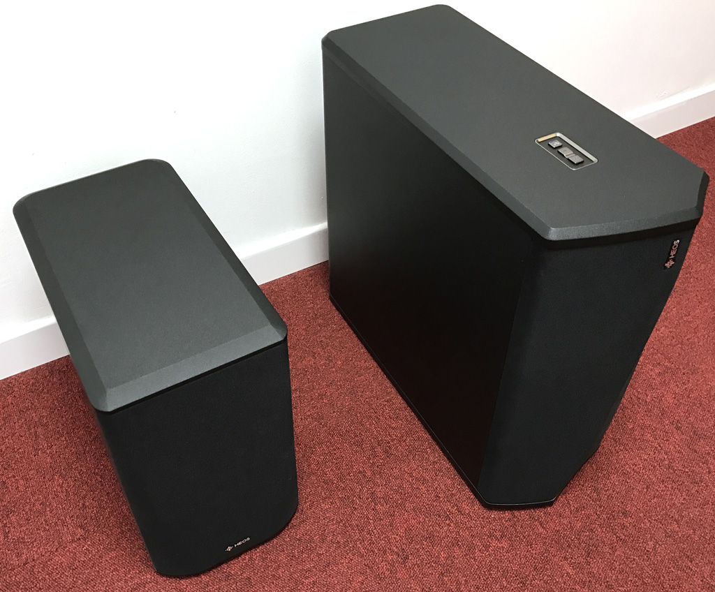Comparaison entre les deux caissons de basses sans fil de la gamme Denon HEOS home cinéma et multiroom wifi