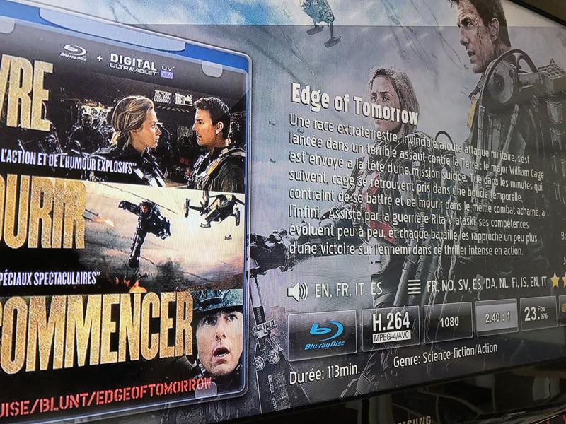 Test de la bande son d'un Blu-ray pour le home cinéma sans fil 5.1 de Denon HEOS