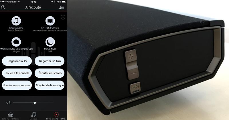 Test du home cinéma sans fil Denon HEOS Bar - barre de son WiFi et multiroom