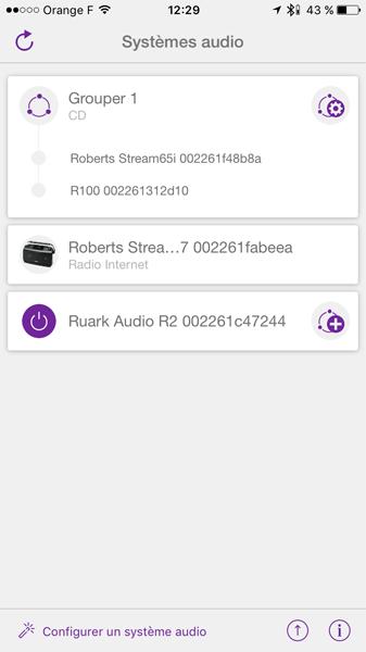 Grouper le Roberts Stream 65i avec le poste de radio R-Line 100 pour écouter le CD sur une autre enceintes sans fil WiFi