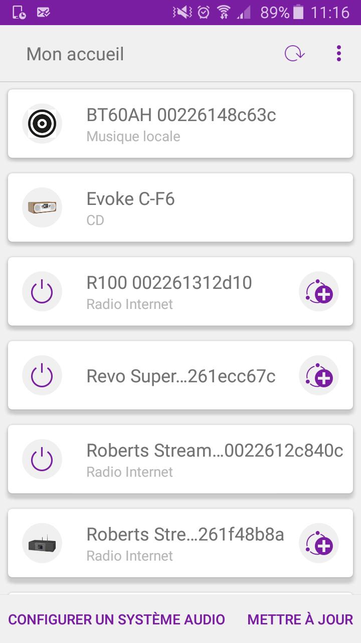 L'application Undok permet de piloter la radio à distance