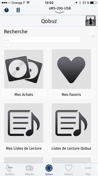 Accédez à votre abonnement Qobuz par l'application iPeng pour une écoute sur le lecteur SOtM sMS 200