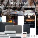 Deezer en qualité CD, abonnement à moitié prix, compatible avec les enceintes Bluesound et Sonos