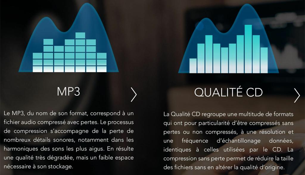 Quelles différences entre la compression MP3 et la qualité CD au format FLAC ?