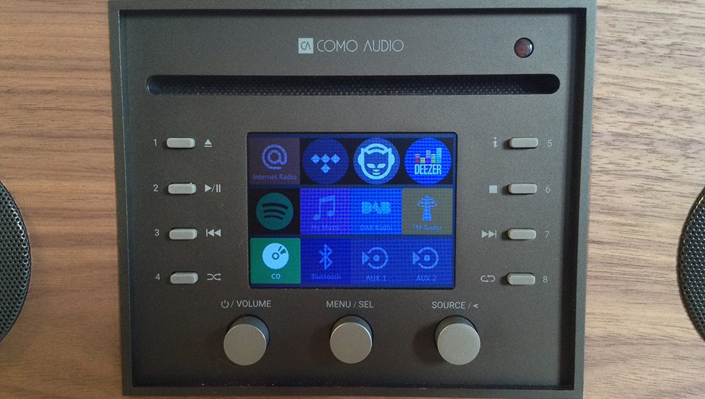 La mini-chaîne Como Audio Musica dispose d'un nombre de source musicale impressionnant