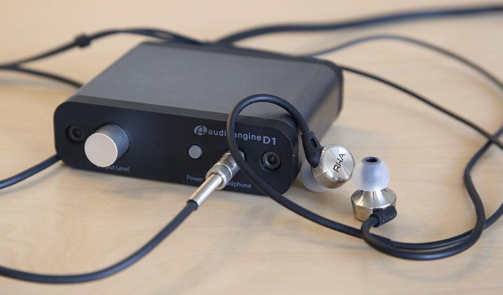 Écouteurs intra-auriculaire RHA MA750 testés avec le DAC Audioengine D1