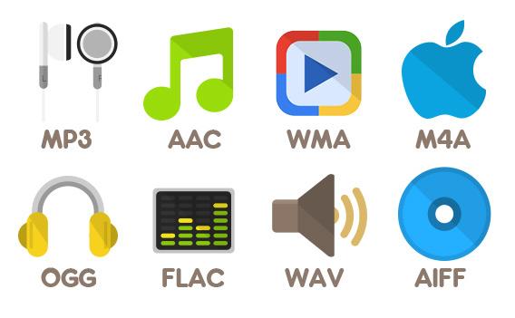 formats fichier audio