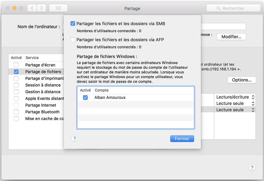 partage smb mac