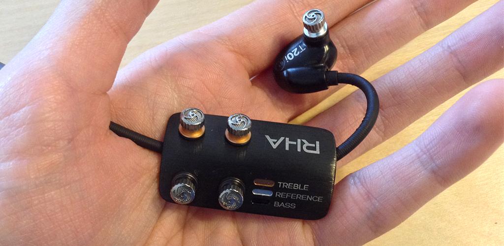 Les 3 filtres des écouteurs intra RHA T20i : grave (bass), neutre (reference), aigu (treble).