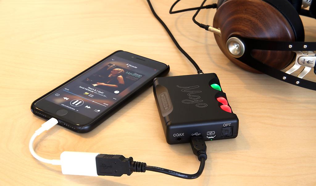 Utiliser le DAC Mojo avec un câble Lighting USB sur l'iPhone