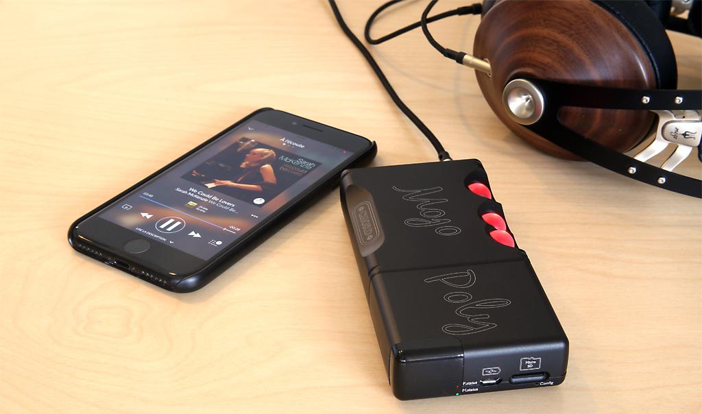 Utiliser le DAC Mojo par une liaison sans fil WiFi ou Bluetooth avec l'iPhone et le lecteur additionnel Poly