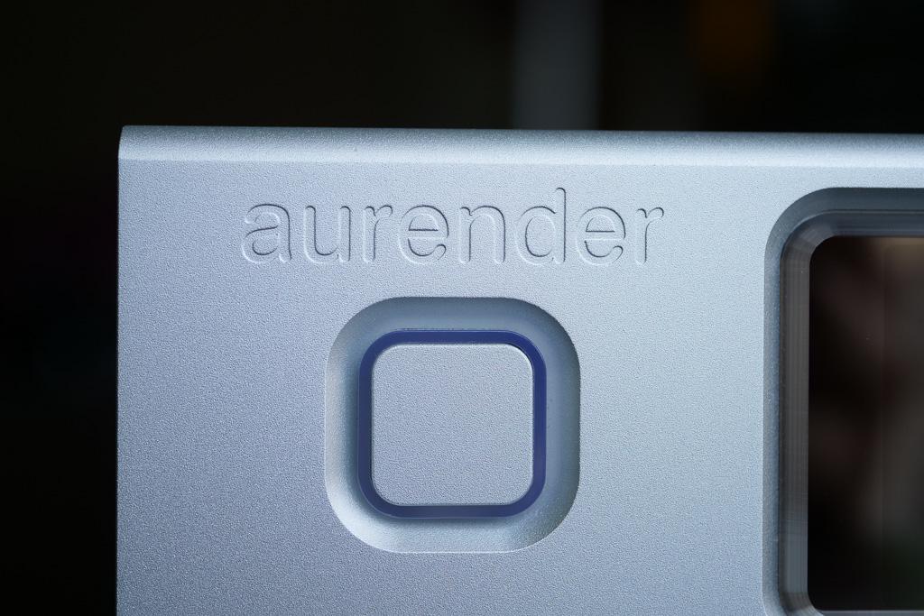 aurender N100 details bouton marche arret