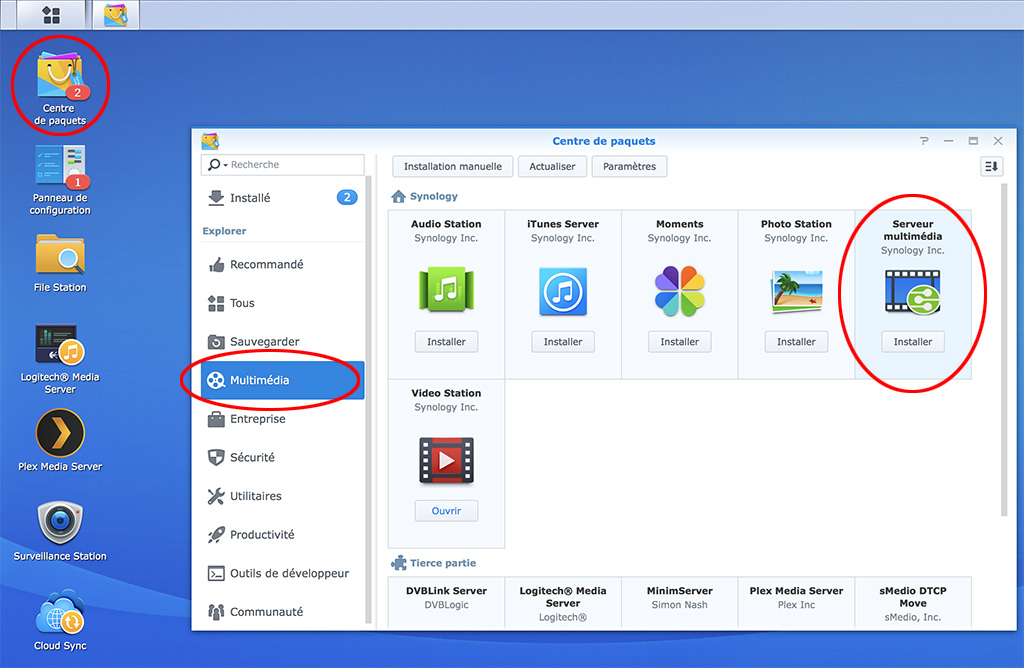 synology serveur multimedia