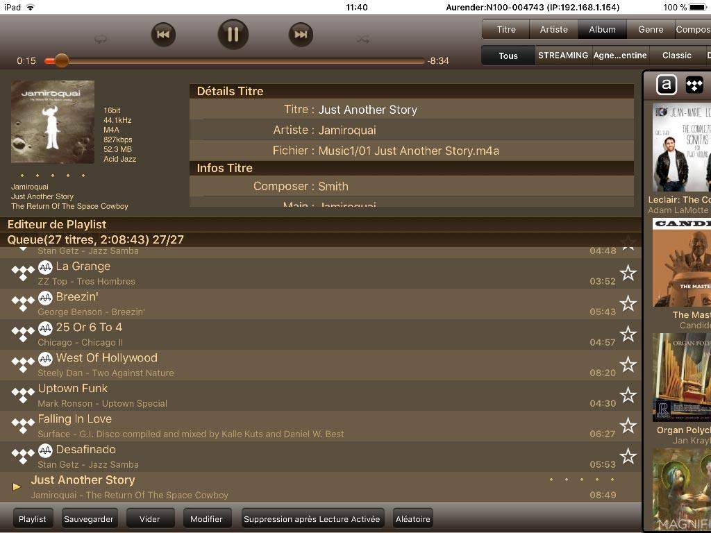 test aurender N100H app 2