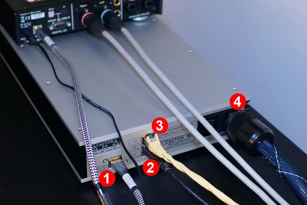 test aurender N100H connectique