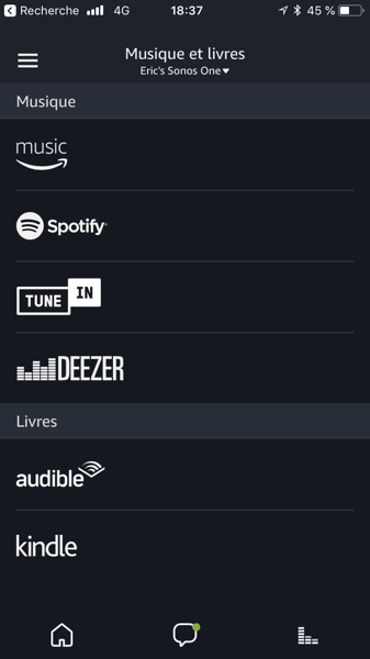 Les skills Alexa disponibles pour l'enceinte Sonos One